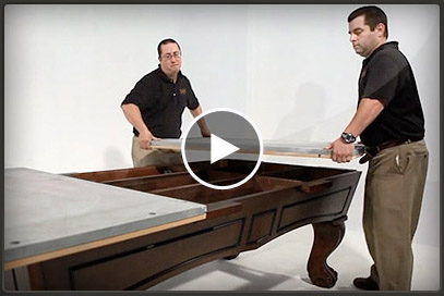 Call Pool Tables Canada today for a complete quote - You can either get us to install your billiard table ( depending on your location ), do it yourself or have us refer you to a qualified technician in your area - Why wait any longer for the game room of your dreams - Our online DIY video or DVD will show you everything you need to know in order to do your own installation, to build your own pool table - Call us and get started now ! These installers will show you step-by-easy-step how to construct yours when you receive it.