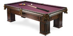 Frontenac Walnut quality pool table model available from Pool Tables Canada