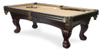 Pinnacle Mahogany quality pool table model available from Pool Tables Canada