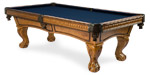 Pinnacle Oak quality pool table model available from Pool Tables Canada