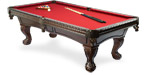 Pinnacle Walnut quality pool table model available from Pool Tables Canada